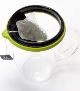 Tasse de thé en verre pour sachet