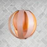 Lampe en bois - Boule 11''