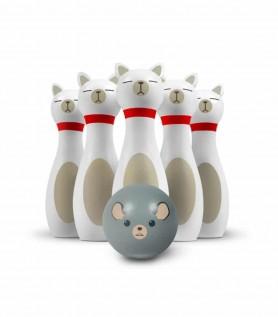 Bowling en bois – Chats et souris