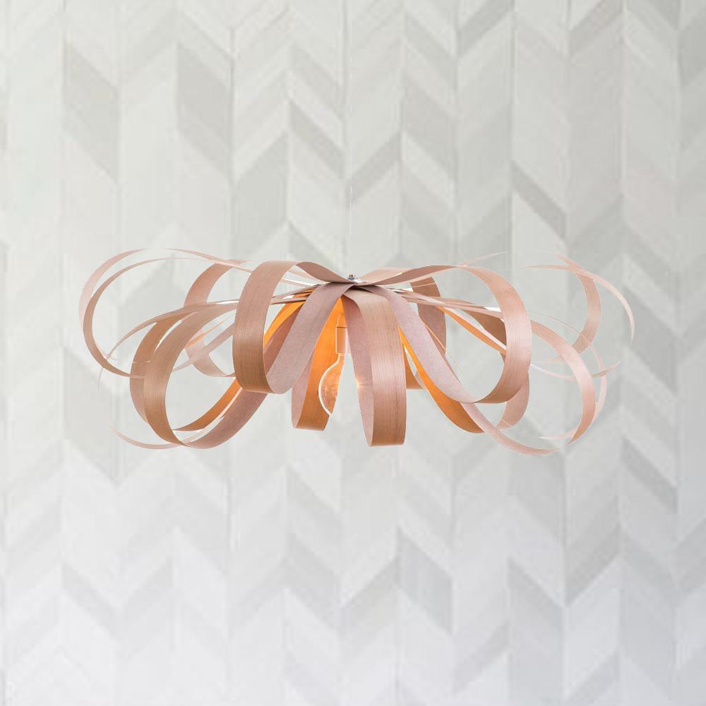 Cliquez ici pour acheter Lampe en bois (Merisier rouge) – June