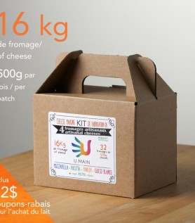 Ensemble pour créer son fromage (4 fromages artisanaux possibles)
