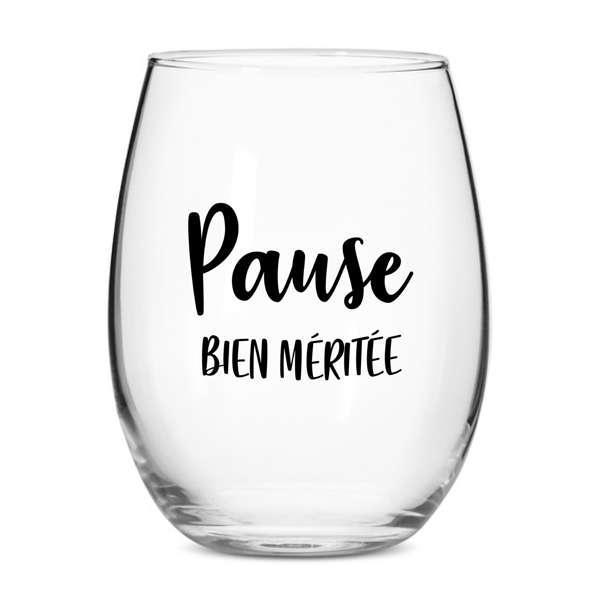 Cliquez ici pour acheter Verre à vin – Pause bien méritée