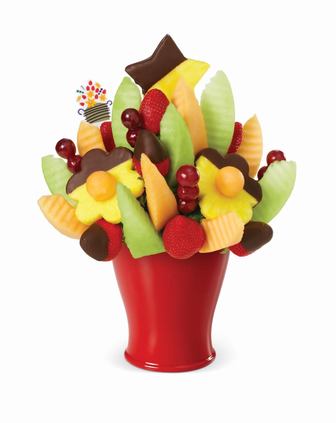 Cliquez ici pour acheter Bouquet de fruits – Délicieuses marguerites
