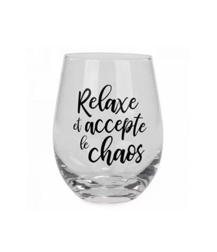 Cliquez ici pour acheter Verre à vin – Accepte le chaos