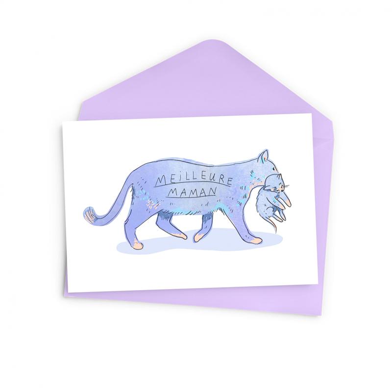 Cliquez ici pour acheter Carte maman chat