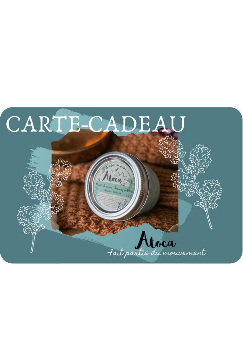 Cliquez ici pour acheter Carte-cadeau – Atoca