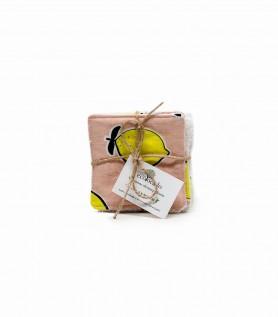 Lingettes démaquillantes réutilisables – Citron