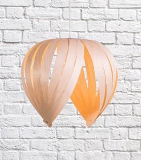 Lampe en bois (Merisier blanc) – Noisette
