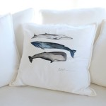 Coussin - 3 baleines