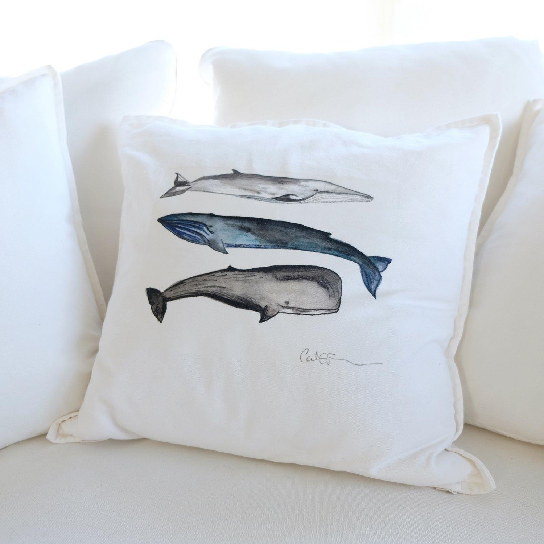 Cliquez ici pour acheter Coussin – 3 baleines
