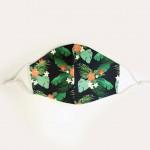 Cliquez ici pour agrandir l'image masque-tissu-feuilles-et-fleurs-poches-et-fils