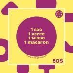 OUI MANON - 1 sac + 1 verre + 1 tasse + 1 macaron