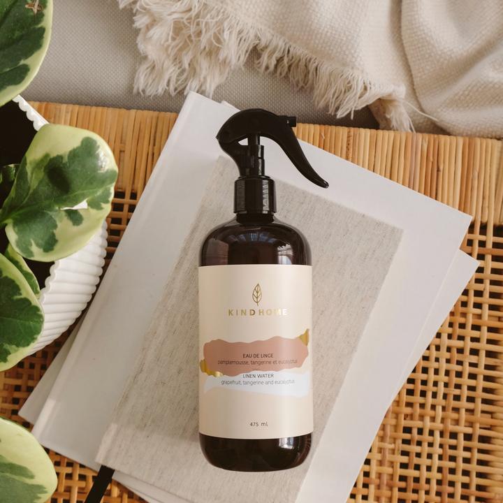 Cliquez ici pour acheter Eau de linge – Pamplemousse, Tangerine & Eucalyptus