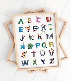 Affiche – Les lettres de l'alphabet