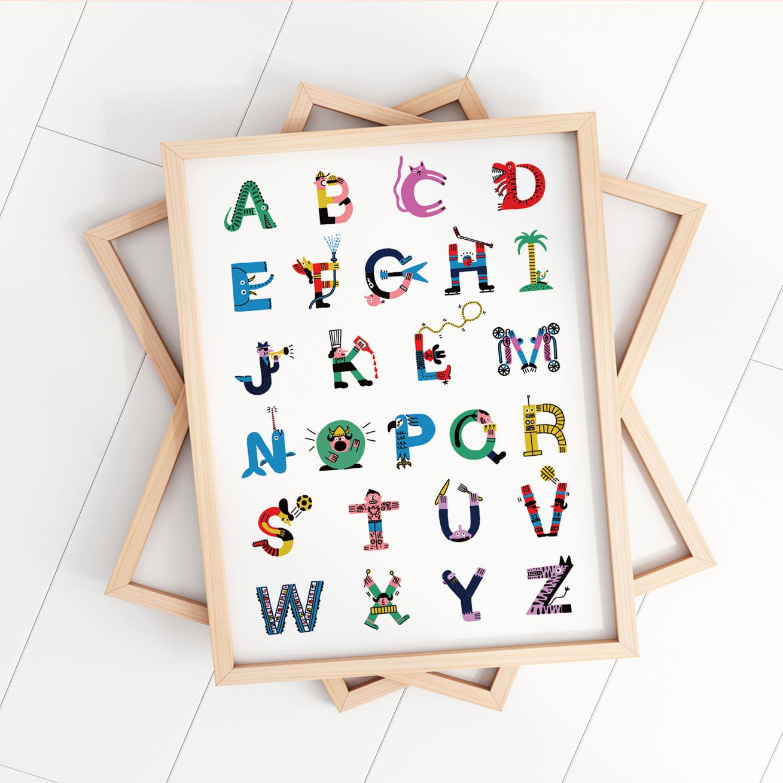 Cliquez ici pour acheter Affiche – Les lettres de l'alphabet