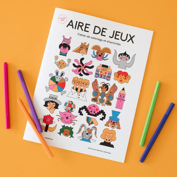 Cliquez ici pour acheter Cahier de coloriage – AIRE DE JEUX