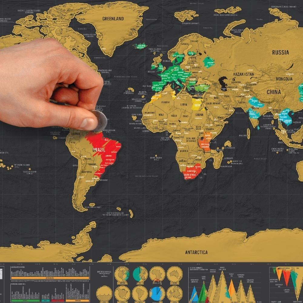 Cliquez ici pour acheter Carte du monde à gratter deluxe
