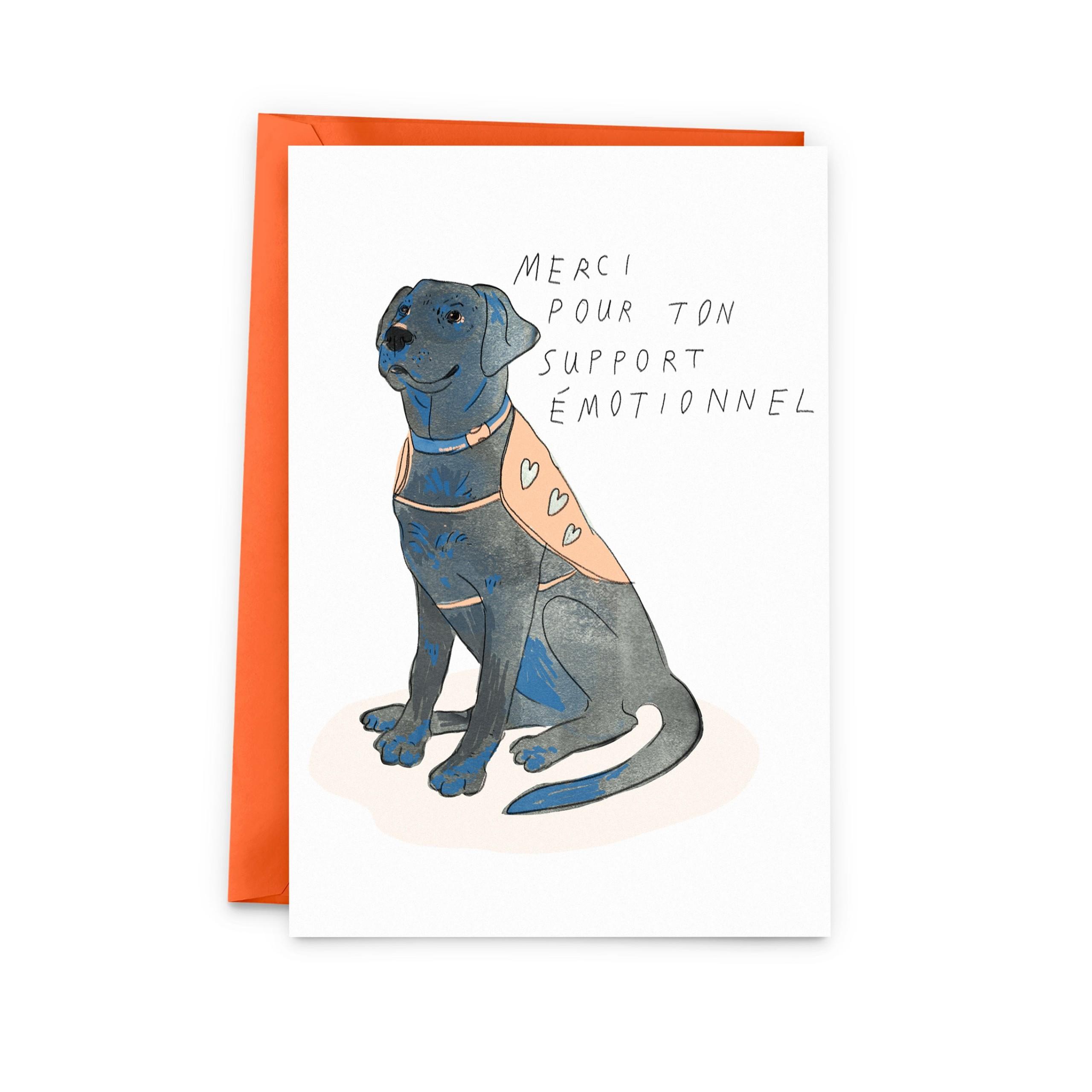 Cliquez ici pour acheter Carte – Merci pour ton support émotionnel