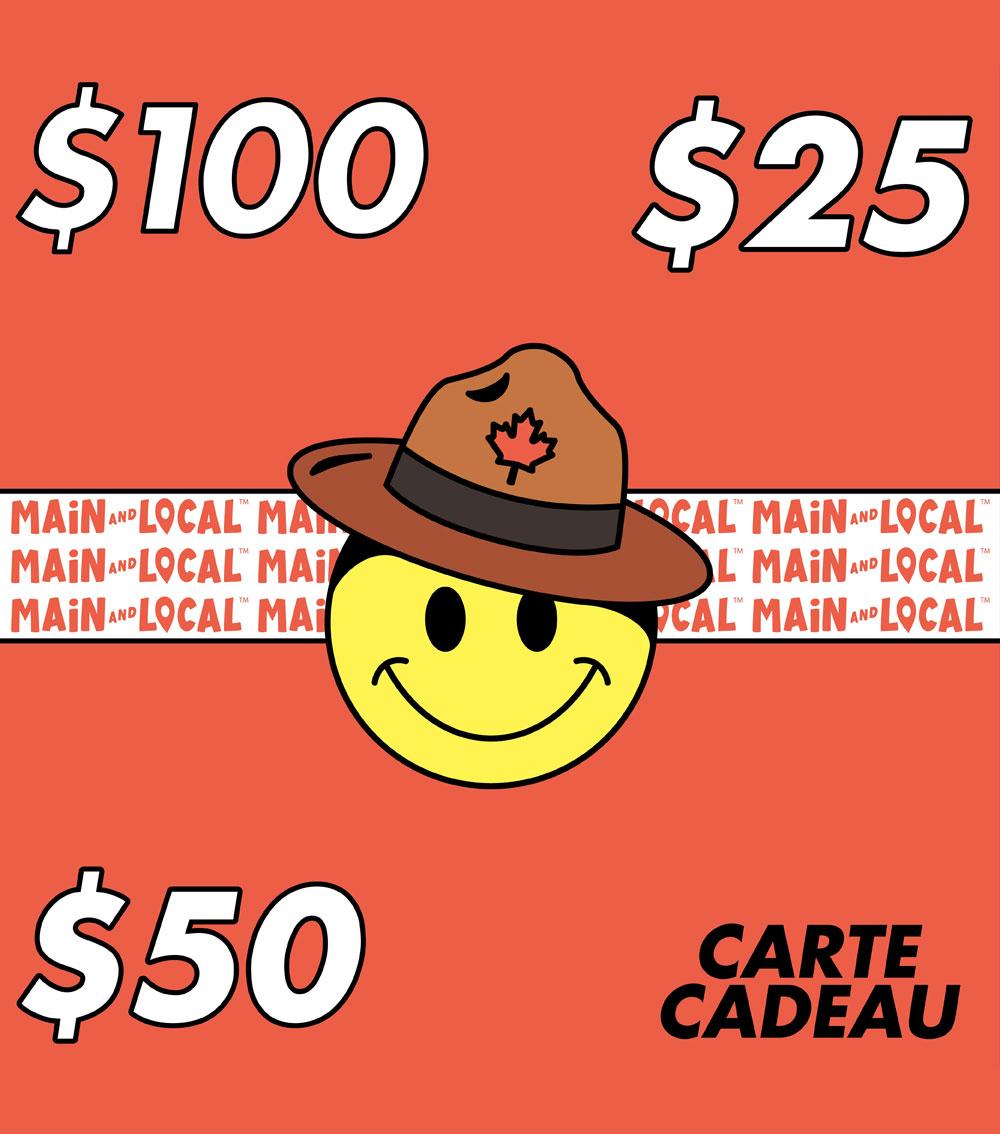 Cliquez ici pour acheter Carte-cadeau – Main and Local
