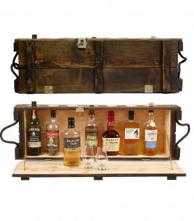Mini bar en bois – Ancienne boîte de munitions