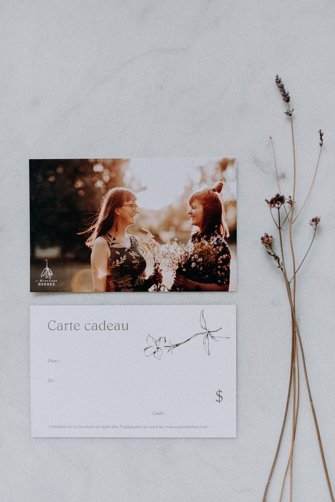 Cliquez ici pour acheter Carte-cadeau – Les Mauvaises Herbes