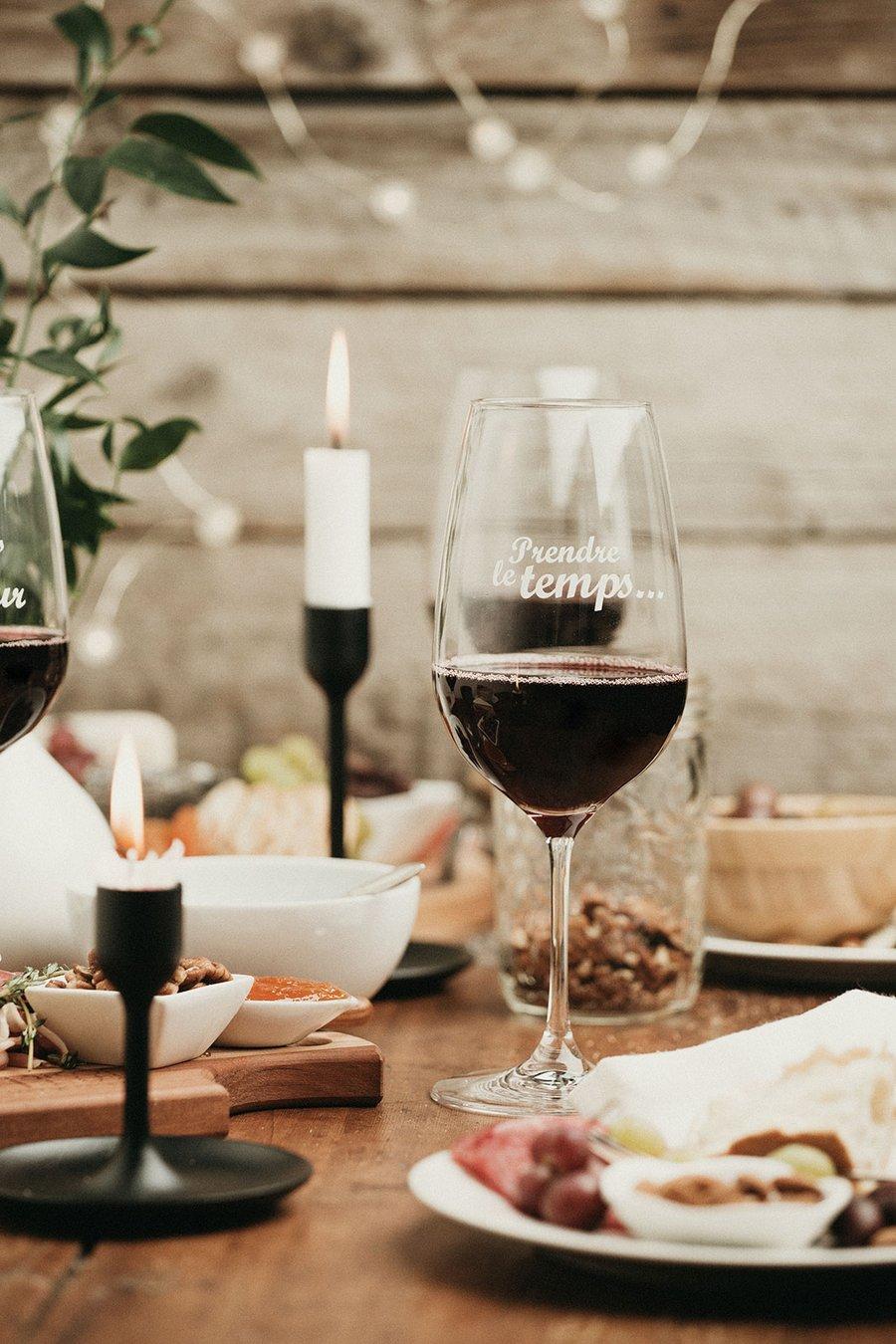 Cliquez ici pour acheter Verre à vin – Prendre le temps
