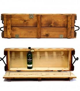 Mini bar en bois sienna – Ancienne boîte de munitions