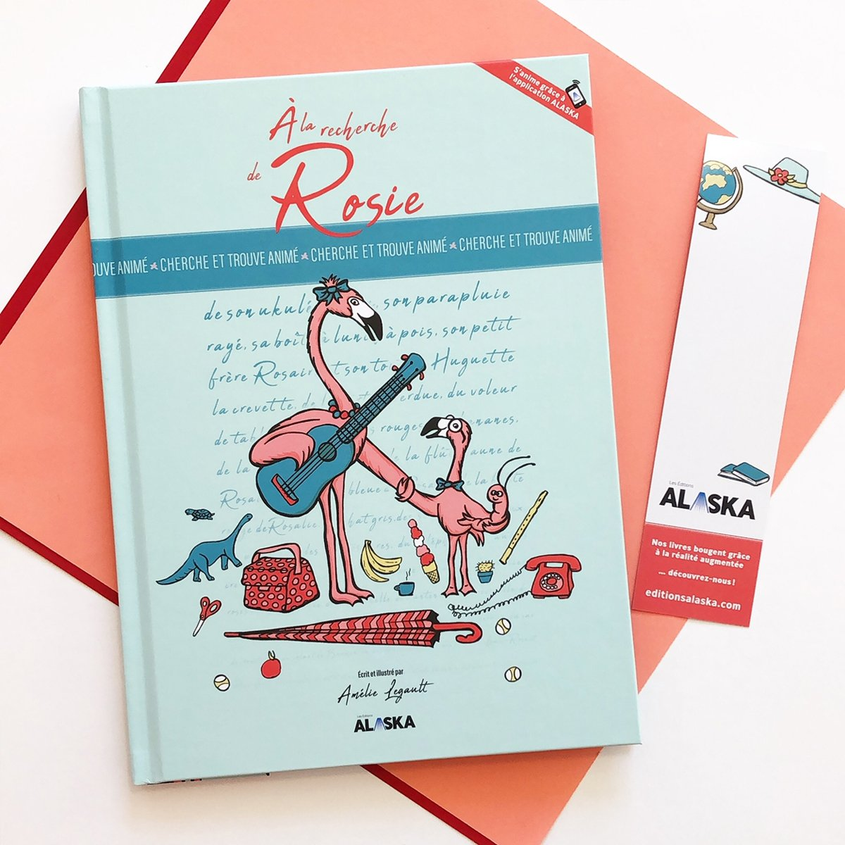 Cliquez ici pour acheter Livre cherche et trouve québécois – Rosie le flamant