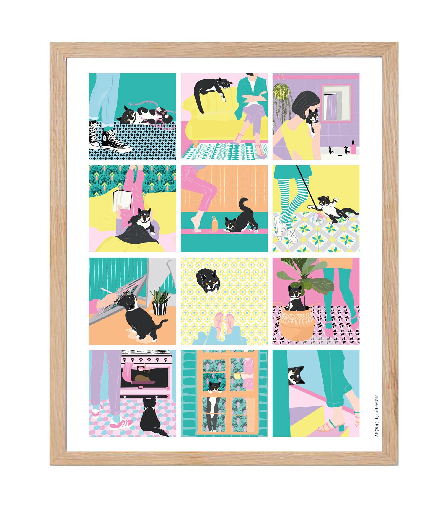 Cliquez ici pour acheter Affiche – Routine du chat