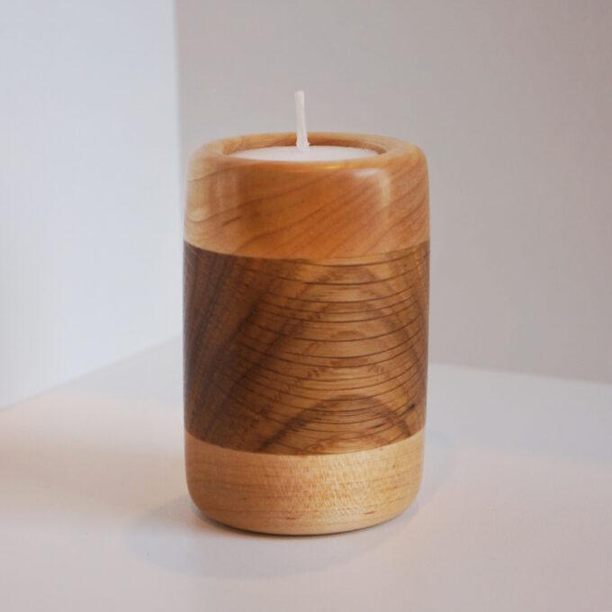 Cliquez ici pour acheter Bougeoir en bois d'érable et chêne