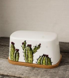 Beurrier cactus avec base en bambou