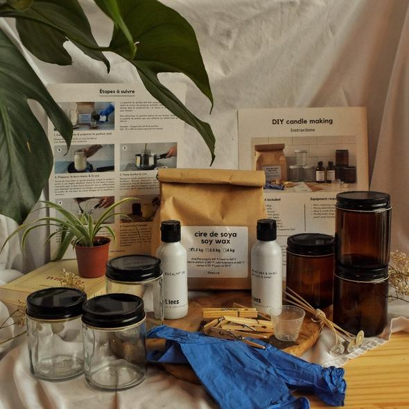 Cliquez ici pour acheter Boîte DIY – Fabrication de bougies de soya