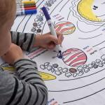 Nappe éducative à colorier - Les planètes