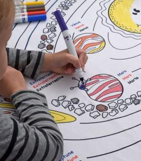 Nappe éducative à colorier – Les planètes