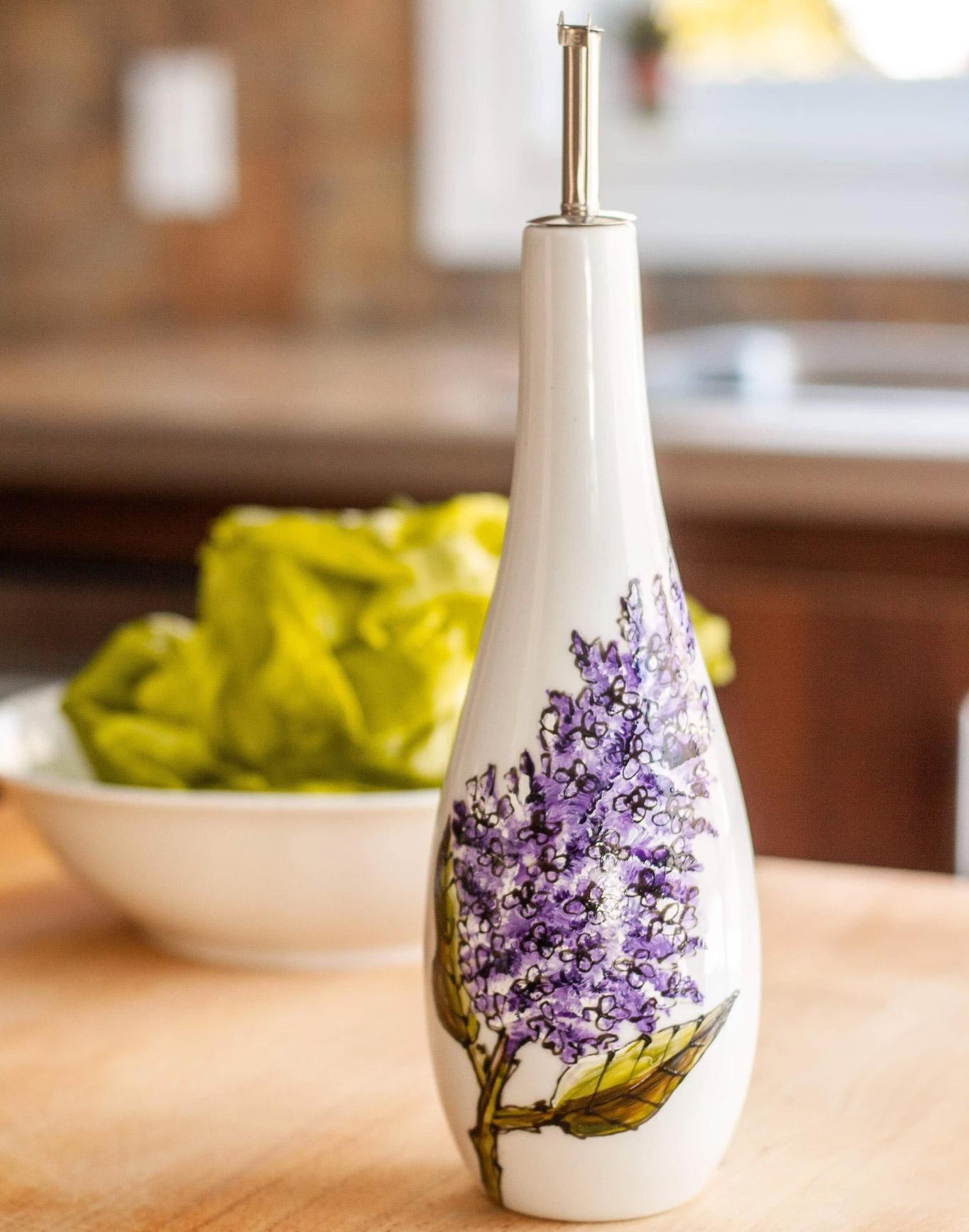 Cliquez ici pour acheter Bouteille d'huile ou vinaigre – Lilas