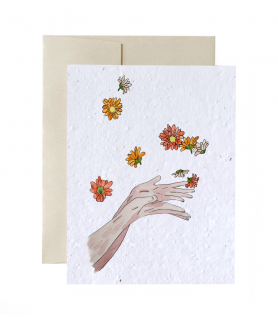 Carte à planter – Lancer des fleurs