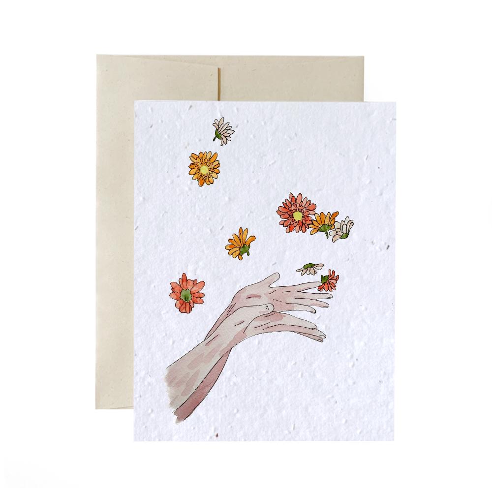 Cliquez ici pour acheter Carte à planter – Lancer des fleurs