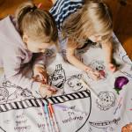 Nappe éducative à colorier - Les légumes