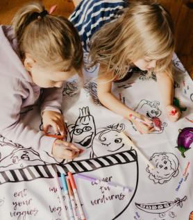 Nappe éducative à colorier – Les légumes