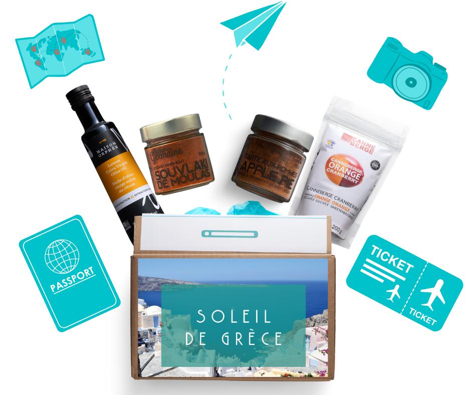 Cliquez ici pour acheter Valise gourmande – Voyage sous le soleil de Grèce