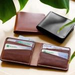 Portefeuille en cuir horizontal personnalisable