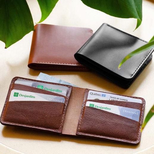 Cliquez ici pour acheter Portefeuille en cuir horizontal personnalisable