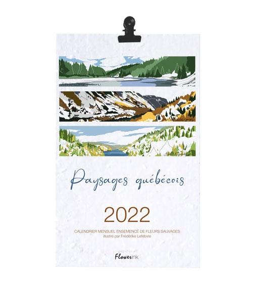 Cliquez ici pour acheter Calendrier 2022 – Paysages québécois