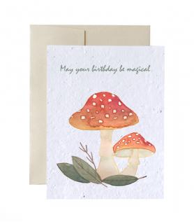 Carte de souhaits à planter – Pour une fête magique