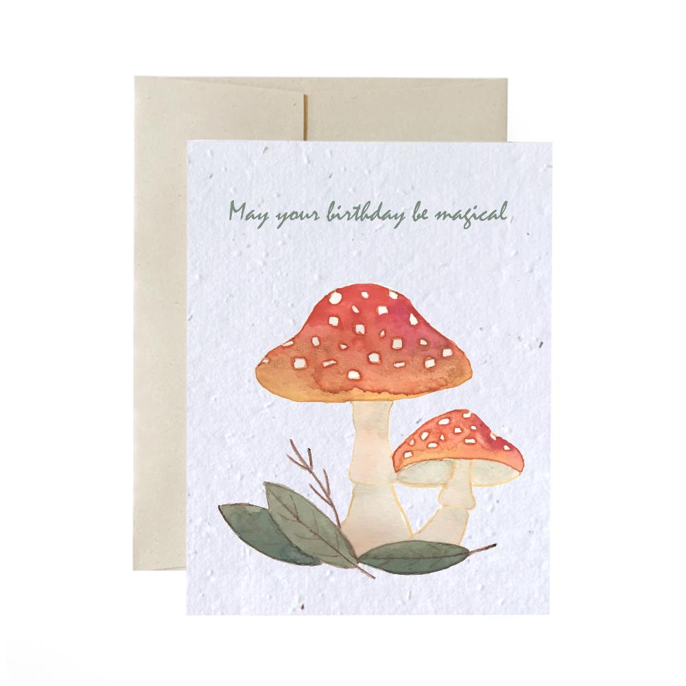 Cliquez ici pour acheter Carte de souhaits à planter – Pour une fête magique