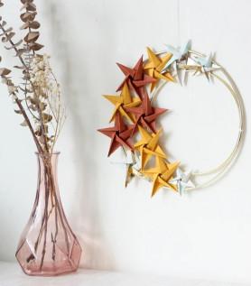 Couronne en origami – Lune étoilée
