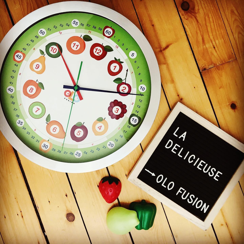 Cliquez ici pour acheter Horloge délicieuse pour enfant – Olofusion