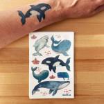 Tatouage temporaire - Les baleines