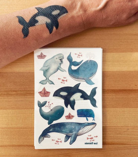 Tatouage temporaire – Les baleines