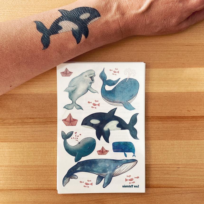 Cliquez ici pour acheter Tatouage temporaire – Les baleines